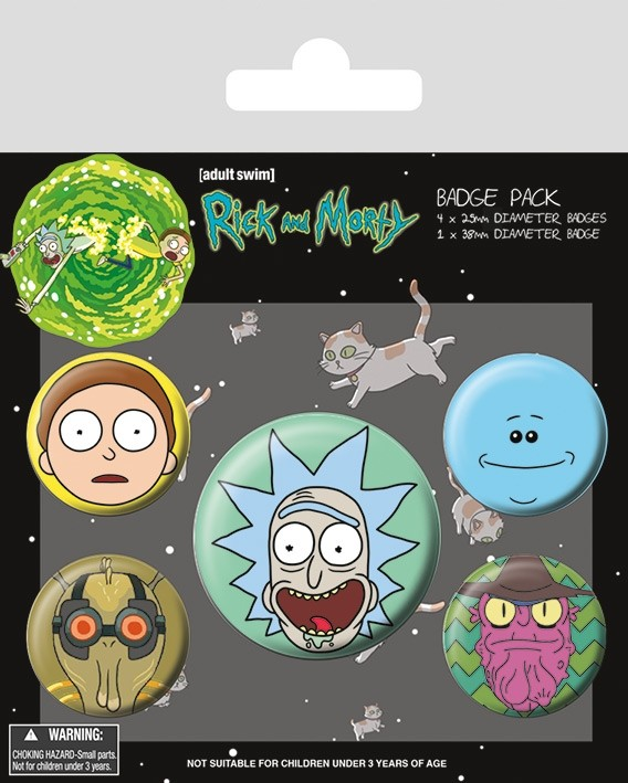 RICK AND MORTY - Badge Pack - Heads