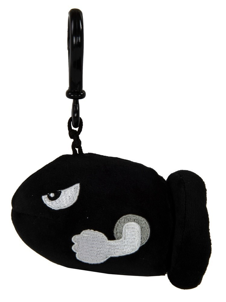 Mocchi-Mocchi Mario Kart Bullet Bill Game Style Clip On Plush (Small)