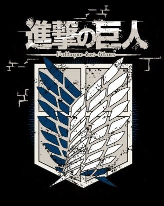 "T-SHIRT Attack on Titan ""CREW LOGO Black"" Medium"