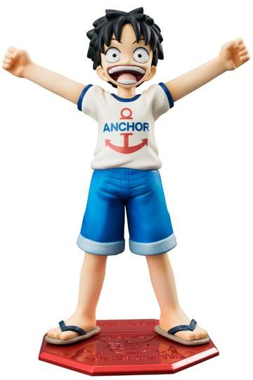 One Piece Figure Excellent Model Mild P.O.P CB-1R PVC Statue 1/8 Monkey D Luffy 12 cm