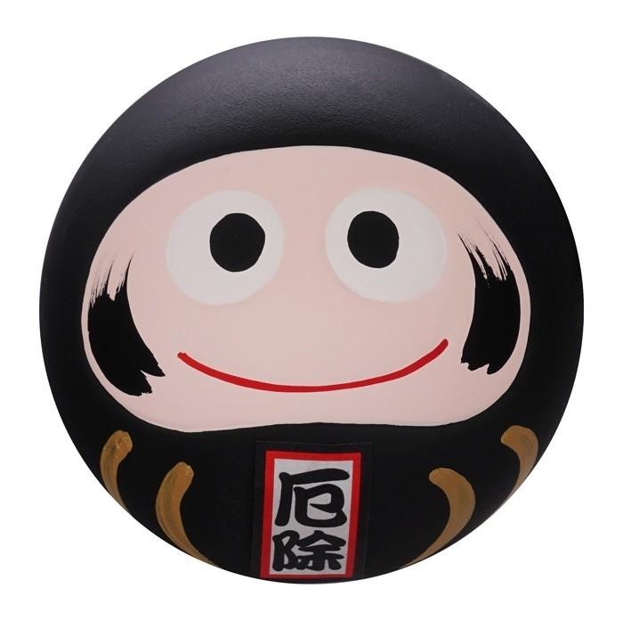 Daruma Happy Face - Black - 6cm