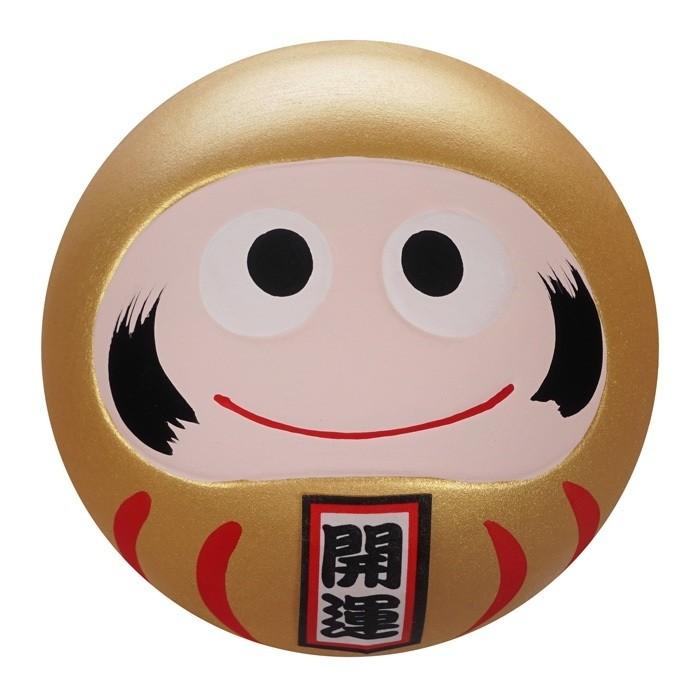 Daruma Happy Face - Gold - 6cm