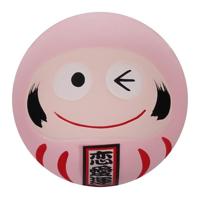 Daruma Happy Face - Pink - 6cm