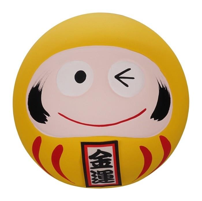 Daruma Happy Face - Yellow - 6cm