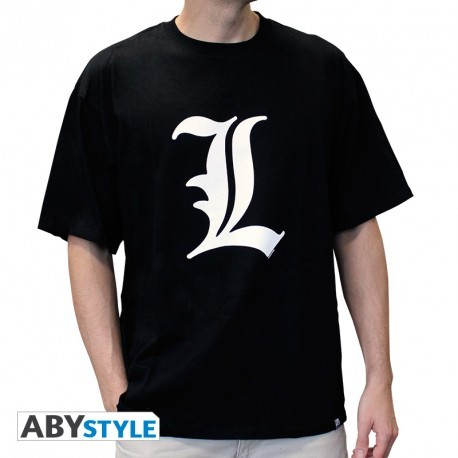 """T-SHIRT DEATH NOTE - """"L tribute"""" Extra Large"""