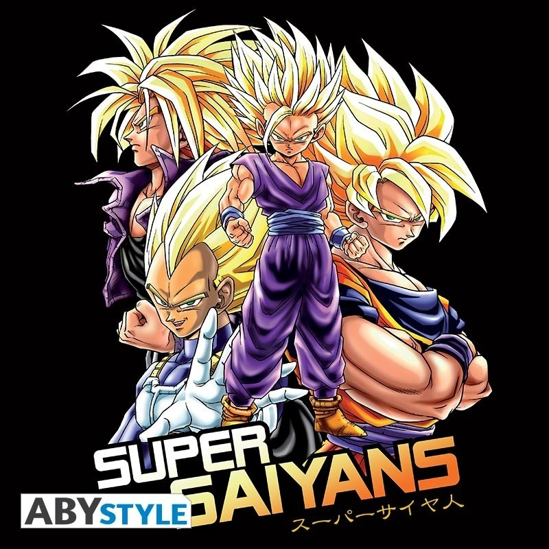 "T-SHIRT DRAGON BALL Z ""Saiyans"" Medium"
