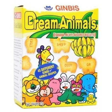 GINBIS - Dream Animals - Banana Milk Flavoured Biscuits
