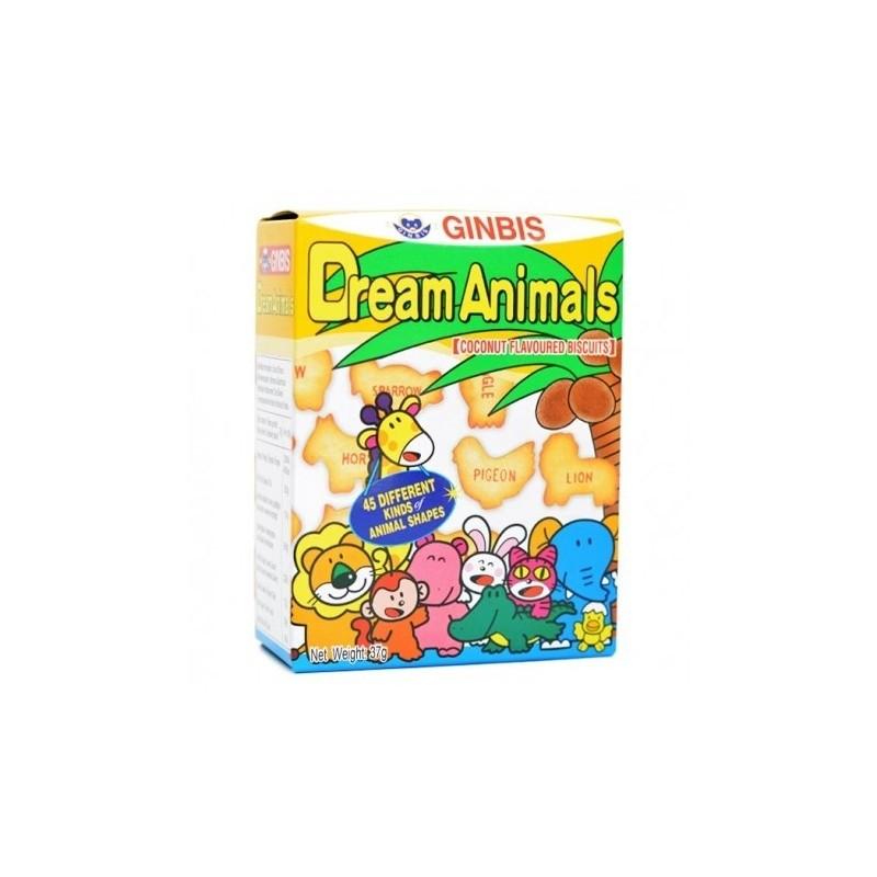 GINBIS - Dream Animals - Coconut Flavoured Biscuits