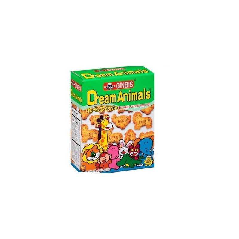 GINBIS - Dream Animals - Seaweed Flavour Biscuits