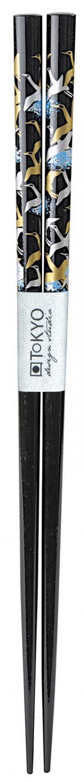 Chopstick Crane Black - 23 cm