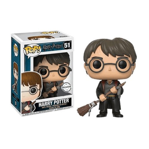 POP! Vinyl: Harry Potter: Harry w/ Firebolt & Feather (Exc)