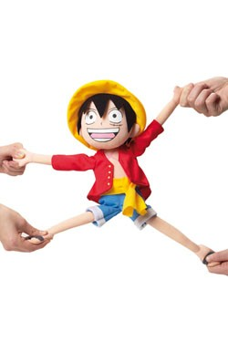 One Piece Elastic Plush Figure Luffy 35 cm