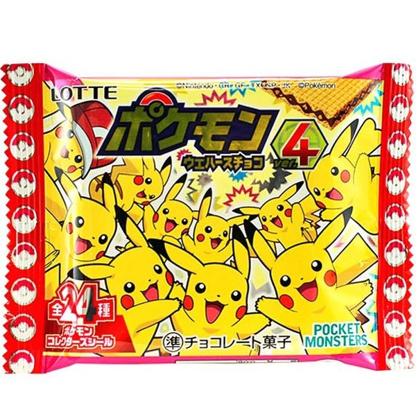Pokemon Wafer Chocolate with a Sticker