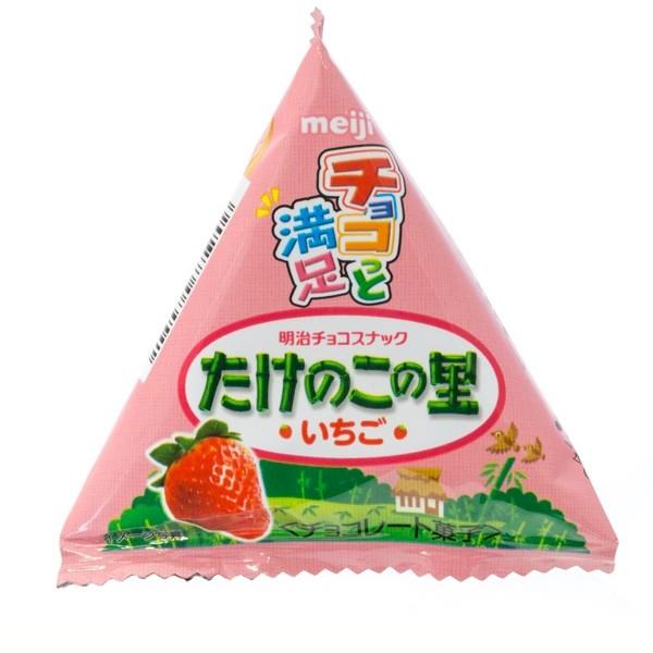 Takenoko No Sato Strawberry Chocolate Biscuits, Petit Pack, 16g
