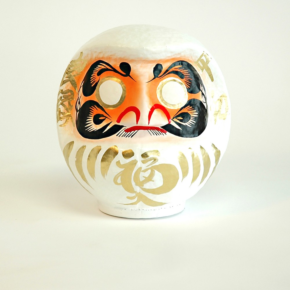 DARUMA - SIZE 2 - WHITE - NEW BIRTH & BEST WISHES