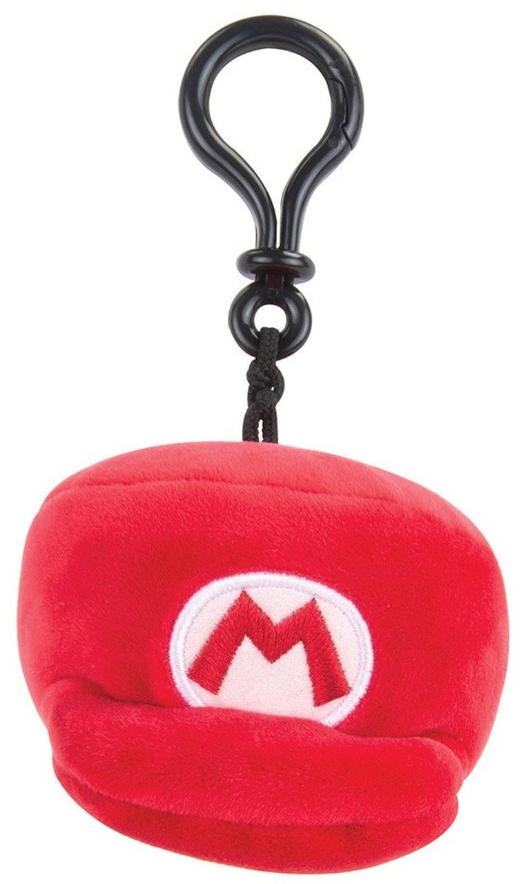 Mocchi-Mocchi Mario Kart Red Hat Style Clip On Plush (Small)