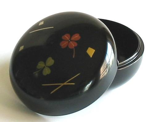 Lacquer Box - Black Bonbon Clover