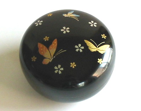 Lacquer Box - Black Bonbon Butterfly