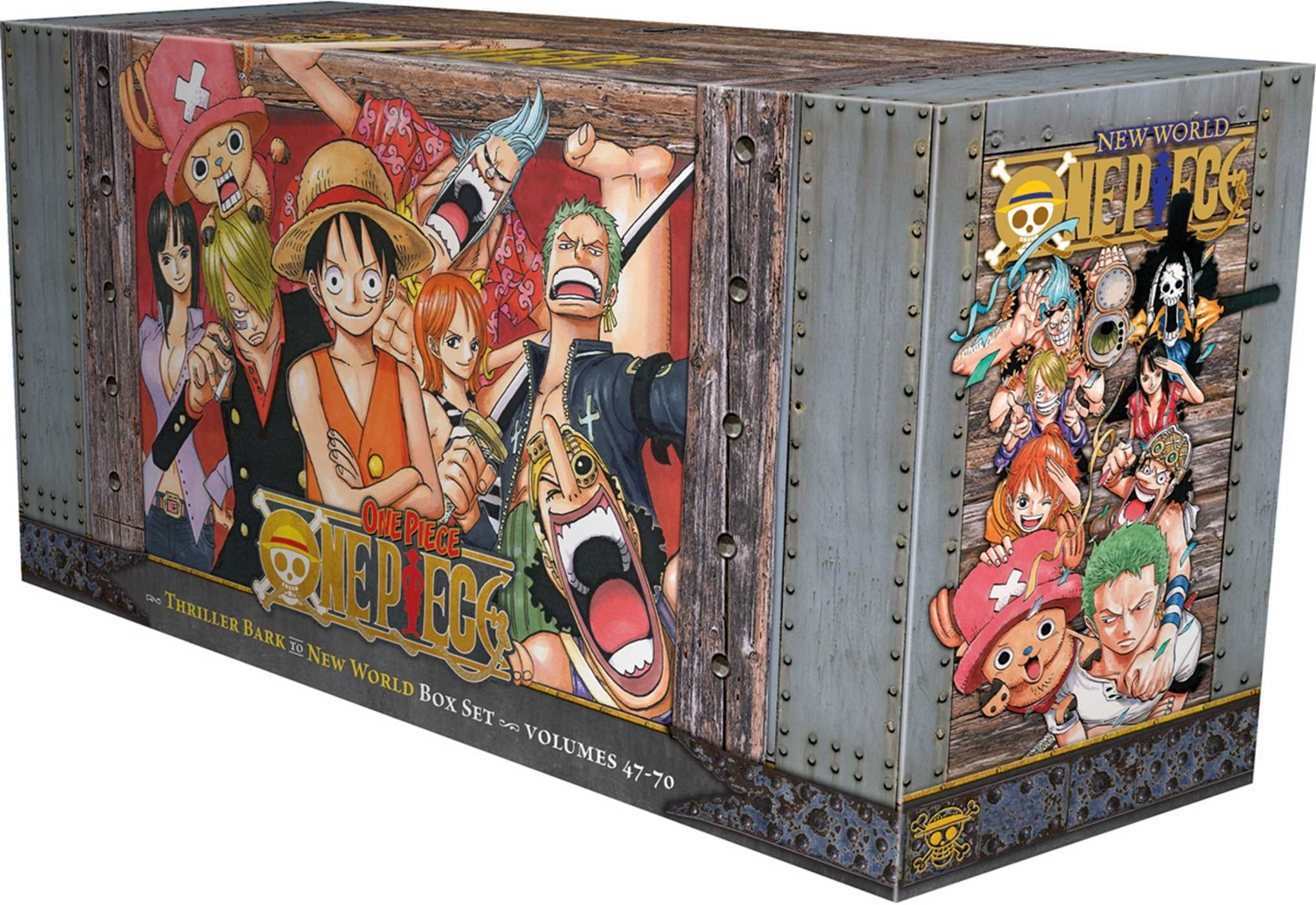One Piece Box Set 3: Thriller Bark to New World, (Vol. 47-70)