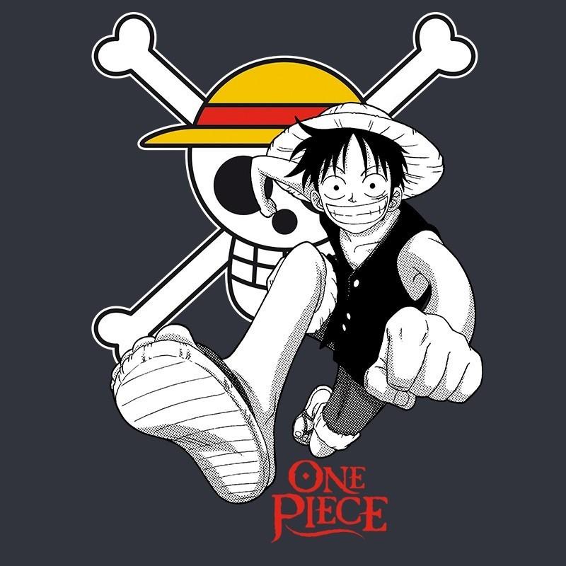 "T-SHIRT ONE PIECE ""Luffy & Emblem"" Large"