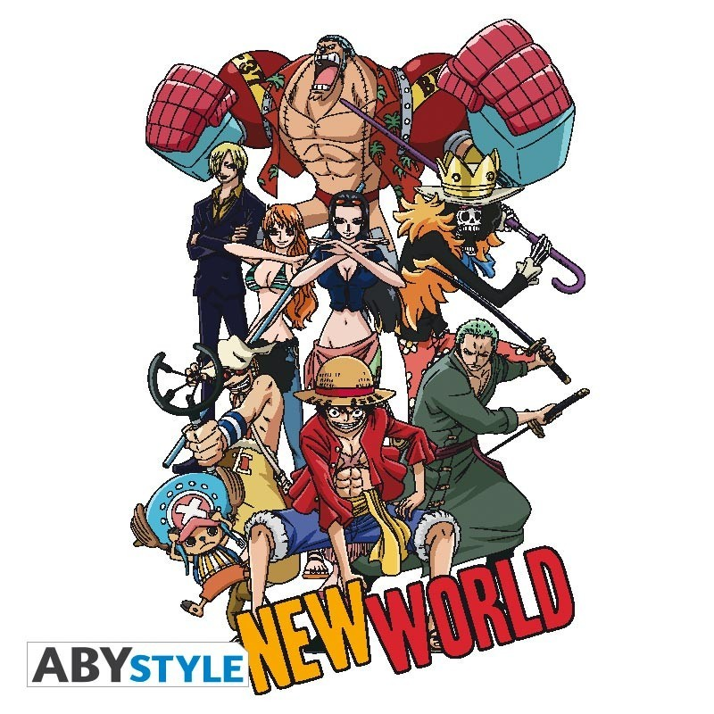 "T-SHIRT ONE PIECE ""New World Group"" Large"