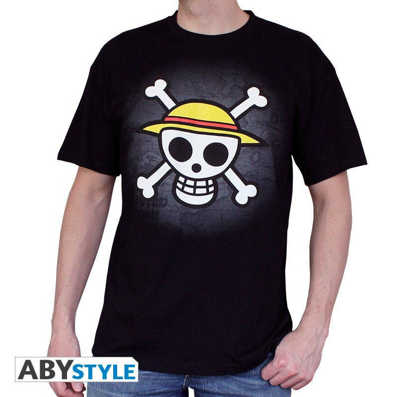 "T-SHIRT ONE PIECE ""Skull with map"" Medium"