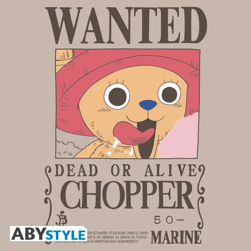 """T-SHIRT ONE PIECE """"Wanted Chopper"""" Small"""
