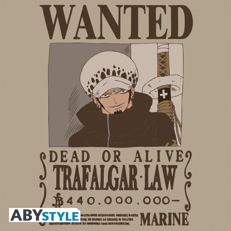 "T-SHIRT ONE PIECE ""Wanted Trafalgar Law"" Large"