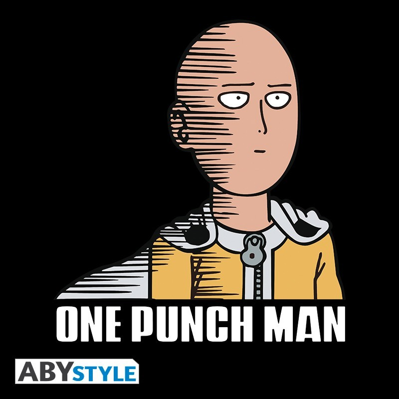 "T-SHIRT ONE PUNCH MAN ""Saitama Fun"" black Medium"