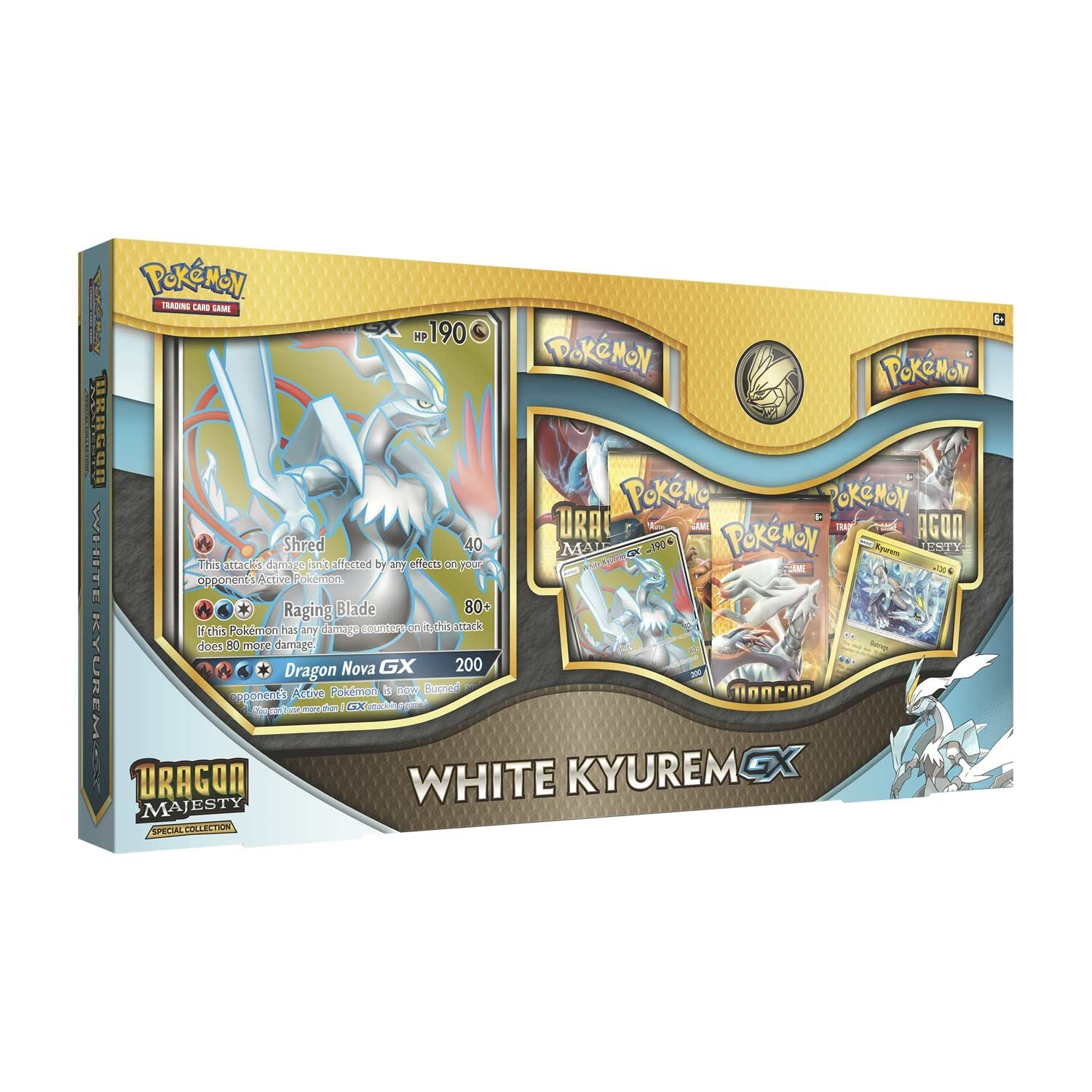Pokemon TCG: Dragon Majesty Special Collection- White Kyurem-GX