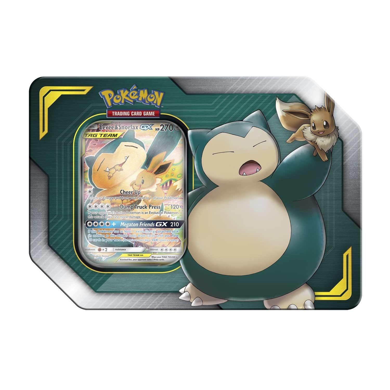 Pokemon TCG: Eevee & Snorlax GX TAG Team Tin
