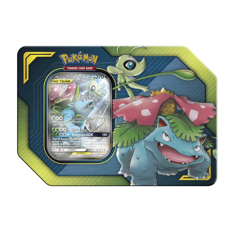 Pokemon TCG: Celebi & Venusaur GX TAG Team Tin