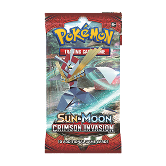 Pokemon TCG Sun & Moon #4 Crimson Invasion Booster Pack