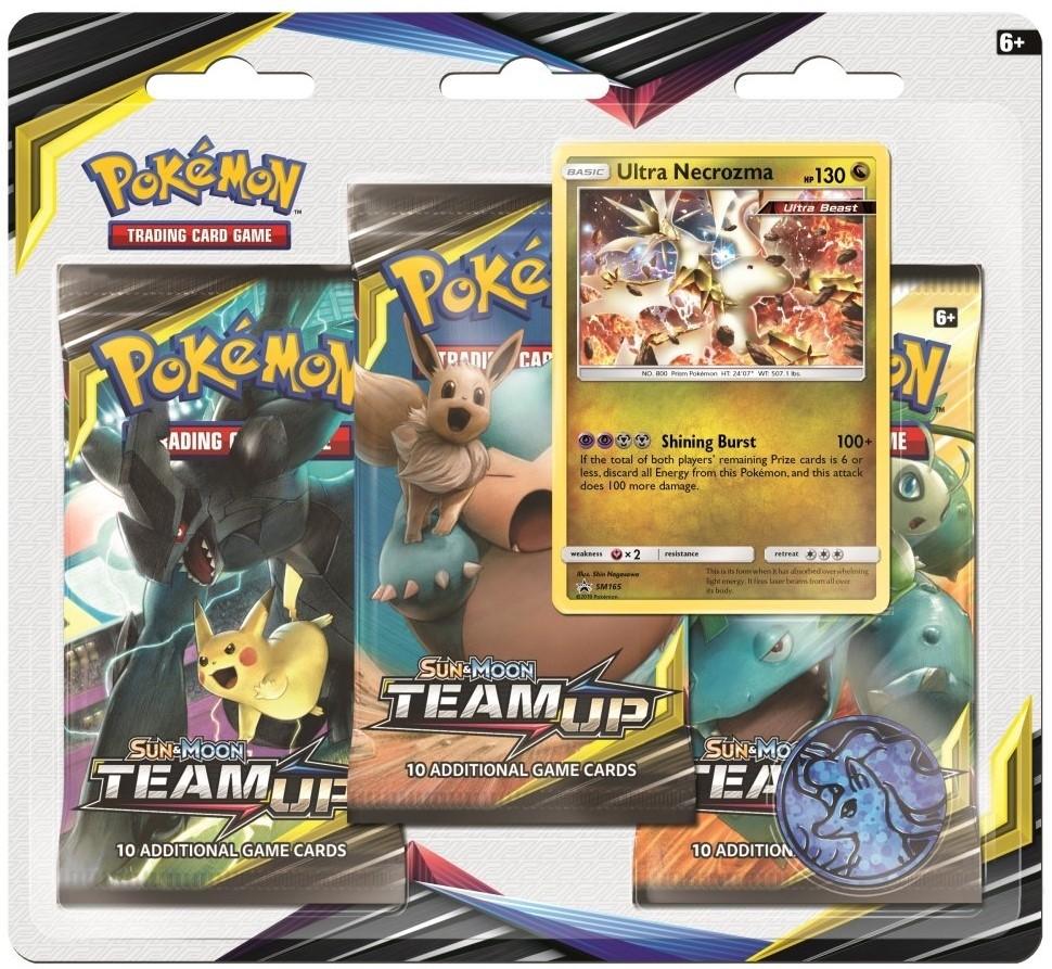Pokemon TCG Sun & Moon #9 Team Up Three-Booster Blister Ultra Necrozma