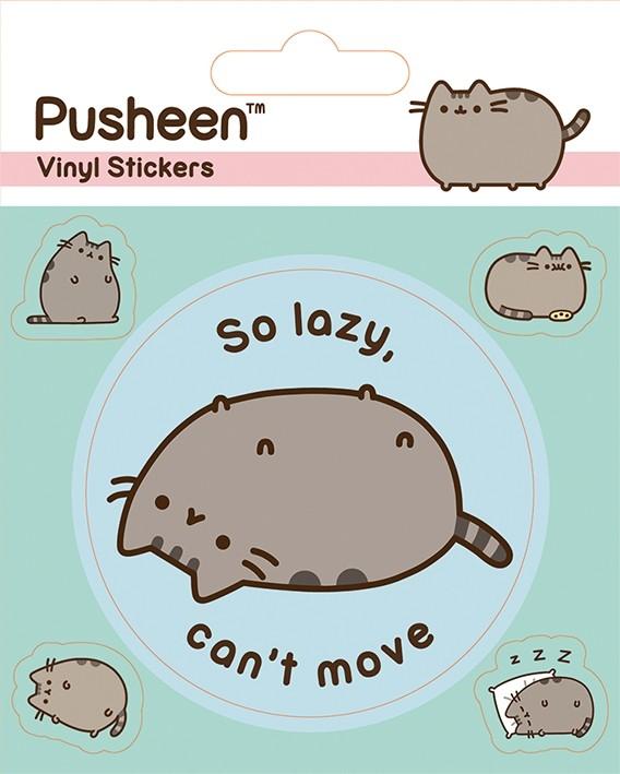 Pusheen - Vinyl Sticker Pack - Lazy