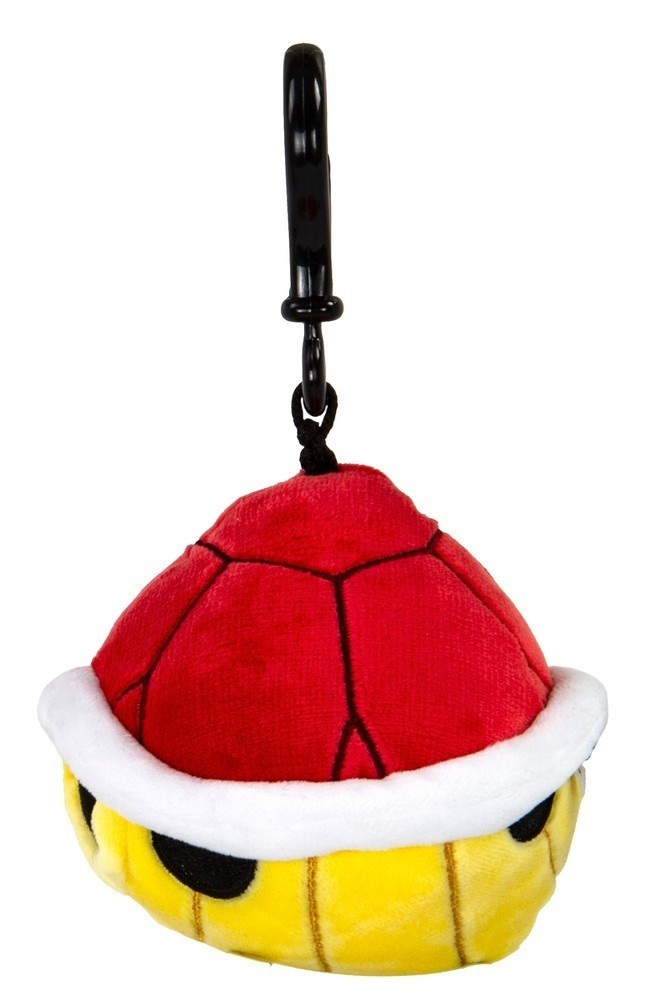Mocchi-Mocchi Mario Kart Red Shell Game Style Clip On Plush (Small)