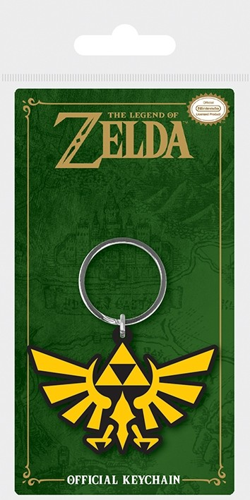 The Legend Of Zelda - Rubber Keychain - Triforce