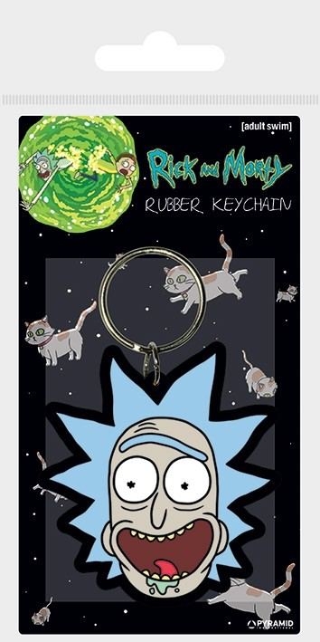 """RICK AND MORTY - Keychain """"Rick Crazy Smile"""""""
