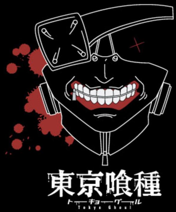 """T-SHIRT TOKYO GHOUL """"KANEKI MASK"""" Large"""