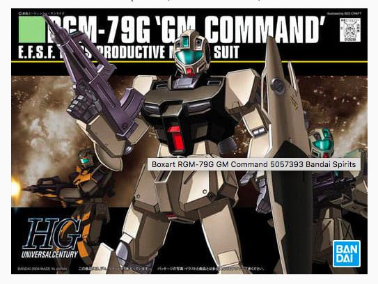 HGUC RGM-79G GM COMMAND 1/144 - GUNPLA