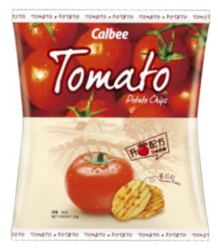 Calbee Potato Chips - Tomato Flavour 90g