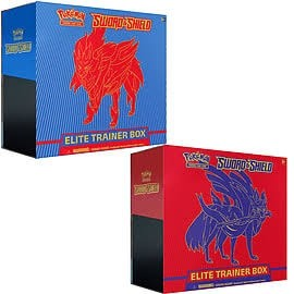 Pokemon TCG: Sword & Shield Elite Trainer Box (Zacian) or (Zamazenta)