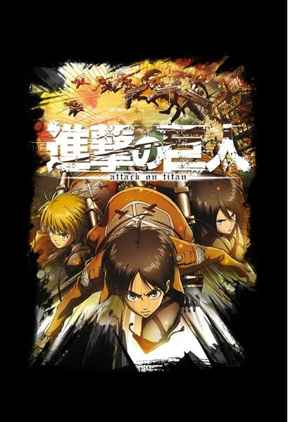 """T-SHIRT Attack on Titan """"CREW FIGHT"""" Large"""