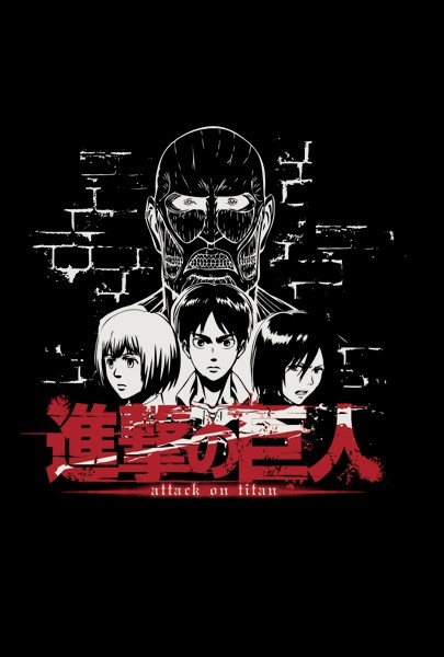 "T-SHIRT Attack on Titan ""TITAN FACE"" Small"