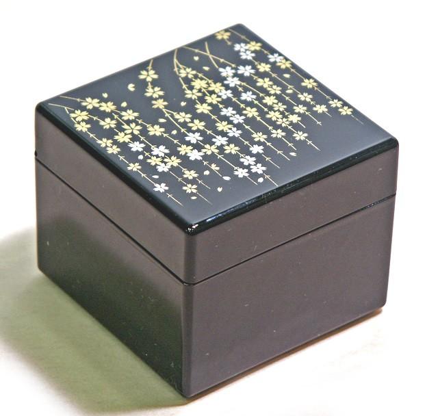 Lacquer Box - Black Sakura Accessory Case