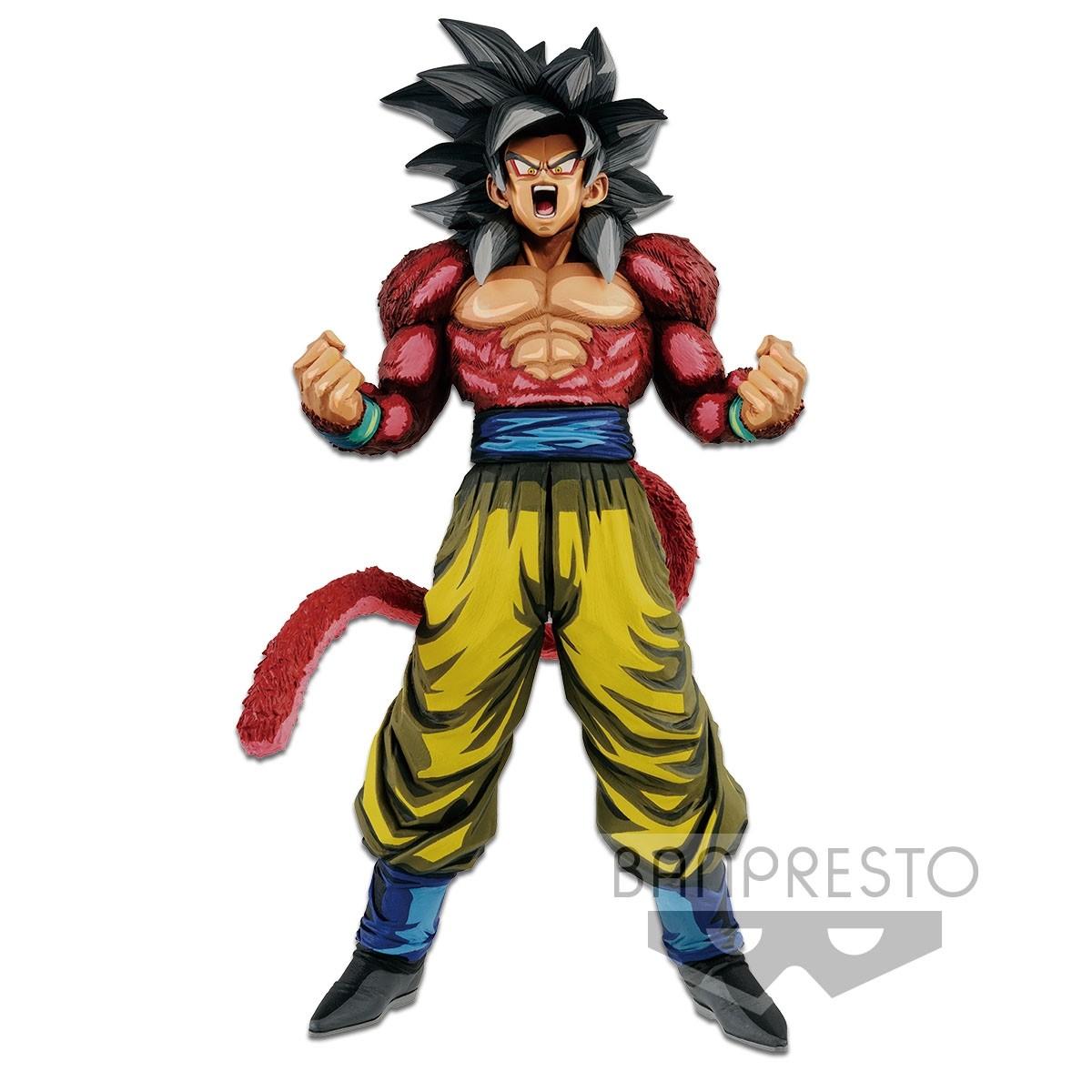 Dragon Ball GT Figure Super Master Stars Piece The Super Saiyan 4 Son Goku Manga Dimensions