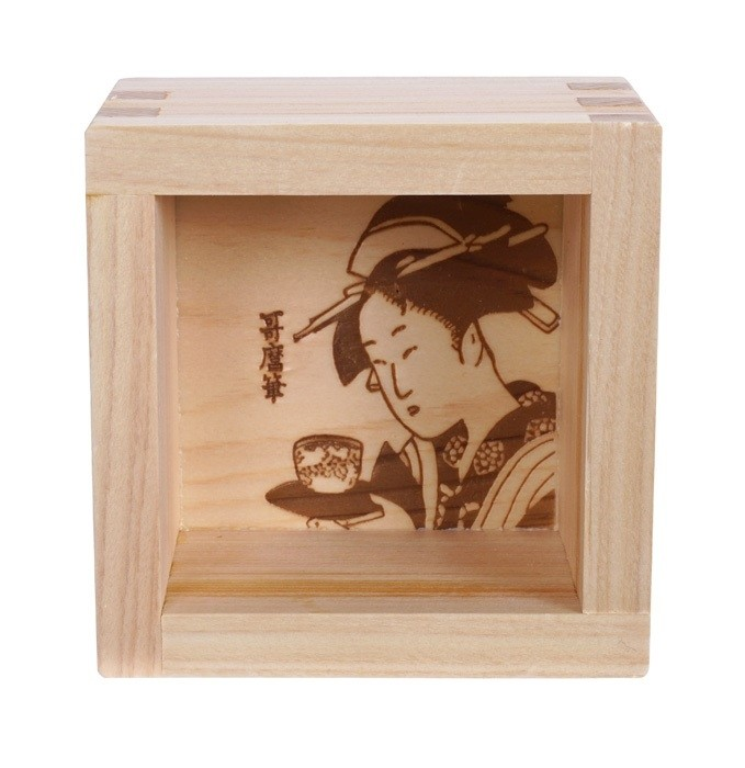 Wooden Sake Cup Utamaro Masu