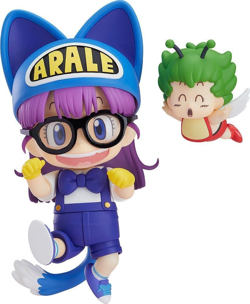 Dr. Slump Nendoroid Action Figure - Arale Norimaki Cat Ears Ver. & Gatchan