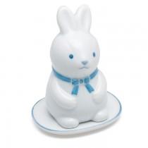 Shoyeido - Incense Burner - Blue Scarf Bunny