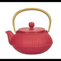 Kiku Red Cast Iron Teapot 0.65L